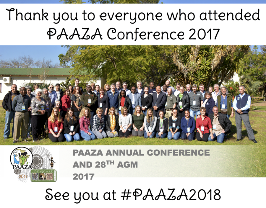 Photo PAAZA conf 2017 thank you red2